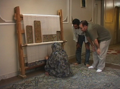 Though Jason's Iranian father is a rug dealer, he has never seen one being made. Ali's mother happens to be a carpet weaver, she informs Jason that it takes 9 months just to finish one rug.