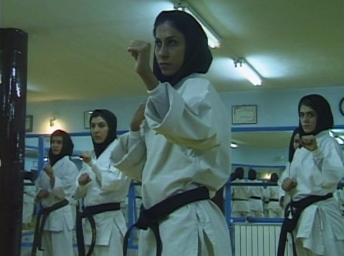 Female participation in karate and other sports has been made possible through the development of a new head scarf suited for physical activity.