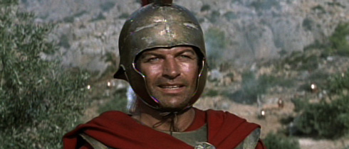 King Leonidas (Richard Egan) udders the words that have made many an arm chair general giggle like a little school girl, 'then we shall fight in the shade...'