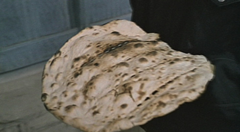 One of the film's namesake's Nan (Bread) which Makhmalbaf used to conceal his knife.