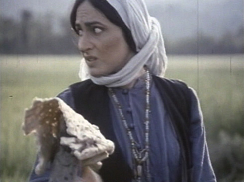 Naiijan (Susan Taslimi) leaves some bread out after discovering a frightened Bashu.