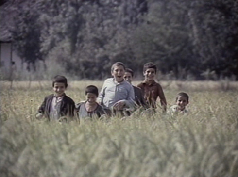 The village children head towards a confrontation with Bashu.
