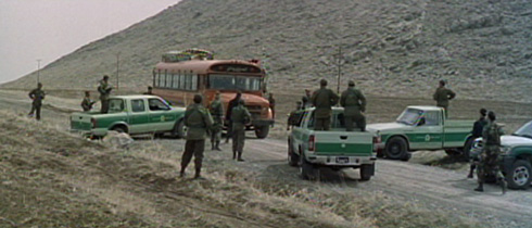 Mamo and his sons have several run-ins with the Iranian border patrol.