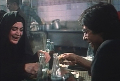 Happier times - conversation over kebabs.