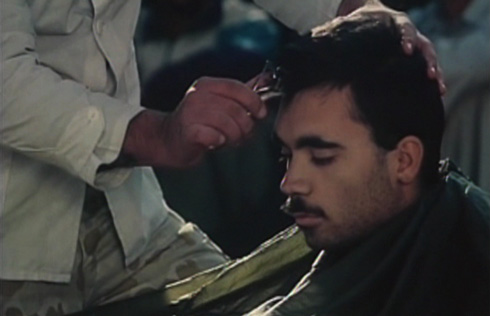 In a scene reminiscent of Stanley Kubrick's 'Full Metal Jacket,' the recruits get mandatory haircuts.