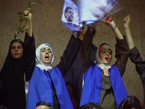 The exuberance of youth at a Khatami rally.